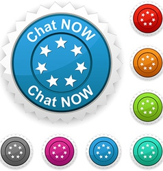 Chat now award vector image