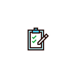 Check list document icon paper board with pen vector