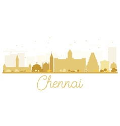 Chennai City skyline golden silhouette vector