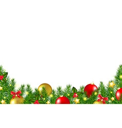 Christmas Border With Holly Berry vector image