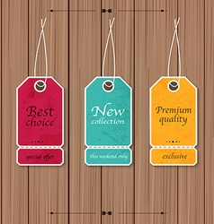 Collection of Sale Discount Vintage Banners on a vector