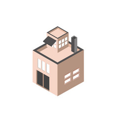 commercial chimney terrace building isometric vector image