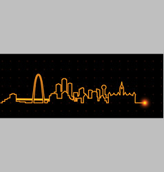 Dallas light streak skyline vector