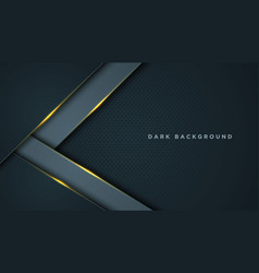 Dark abstract background with black overlap vector