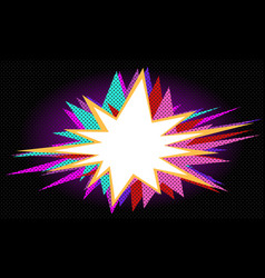 dark pop art background vector image