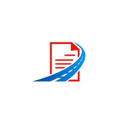 data road file document logo vector image