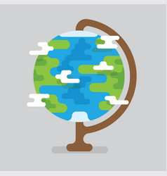 Earth globe with countries and continents vector