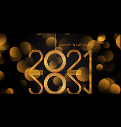 elegant glittery gold happy new year background vector image