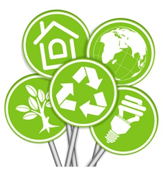 environment icon tree vector image