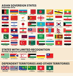 Flags asia vector
