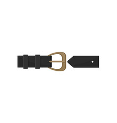 flat icon of black men or women belt with vector image