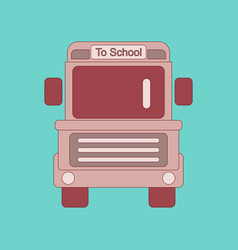 flat icon thin lines school bus vector image