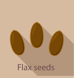 flax seeds icon flat style vector image