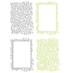 Floral Doodle Background and Frame vector image