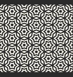 Geometric seamless pattern monochrome ornament vector