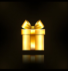 Gift box gold icon surprise present template vector