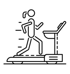 girl at treadmill icon outline style vector image