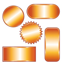Golden badges and medals set vector image