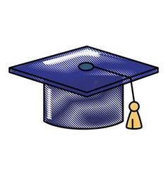 Graduation cap object vector