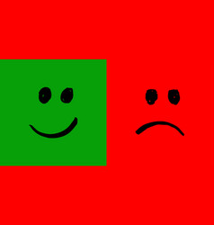 happy and unhappy smileys vector image