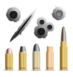 Holes and bullets collection vector