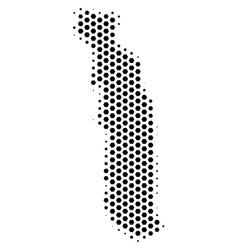 Honeycomb togo map vector