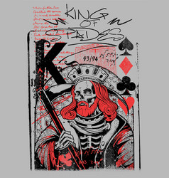 king spades vector image