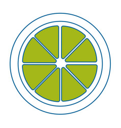 Lemon acid fruit icon vector