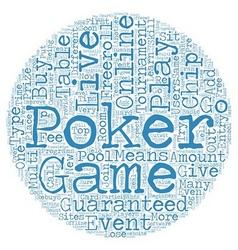 Live online poker text background wordcloud vector