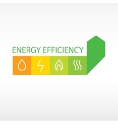 Logo energy efficiency vector