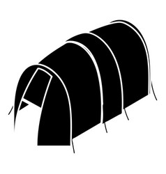 long tent icon simple style vector image