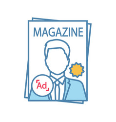 Magazine color icon vector