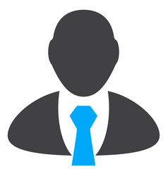 manager flat icon symbol vector image