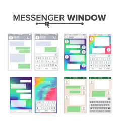 Mobile ui kit messenger set chat app vector
