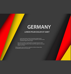 Modern background with german colors vector