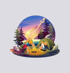 of outdoor recreation camping vector image