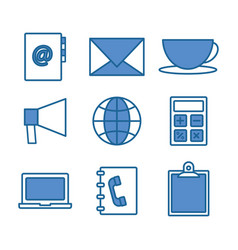 office and business concept vector image