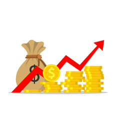 profit money or budget vector image