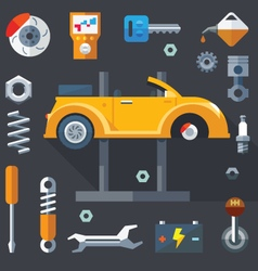 repair machines and equipment vector image