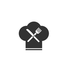 restaurant menu icon flat vector image
