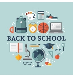 School flat design vector image
