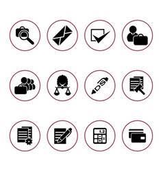 Set icons for auction vector