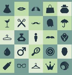 Set simple elegance icons vector