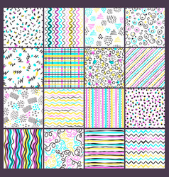 simple line pattern childish style colored shapes vector image