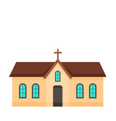 small church icon flat style vector image