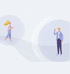 social distancing design concept vector image