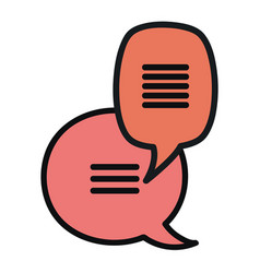 Speech bubbles messages icons vector