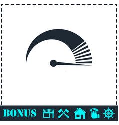 speed icon flat vector image