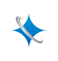 Star shiny glitter icon logo simple minimalist vector