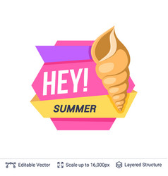 Summer badge isolated on white vector